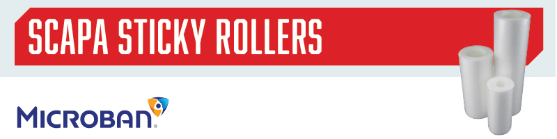 Sticky Rollers for Contamination Control